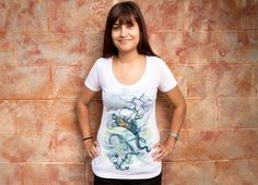 """""""Long Journey"""" - Threadless.com - Best t-shirts in the world $13 Girly Scoop Neck (size S)"""
