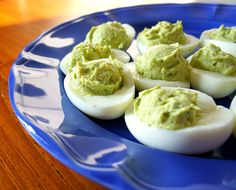 365 Days of Slow Cooking: Recipe for Avocado Deviled Eggs (the best deviled eggs I've ever eaten)