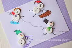 Love and Lollipops: Bottle Top Snowmen Creativity