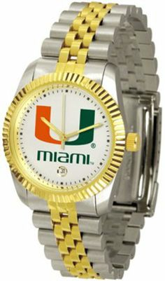 "Miami Hurricanes ""The Executive"" Men's Watch SunTime. $143.59"