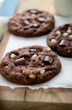 Double Chocolate S'mores Cookies
