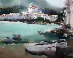 Cesc Farré     CADAQUÉS,  Fast note in Watercolour, 35x40 cm 2015 Como siempre un placer compartir,espero guste.