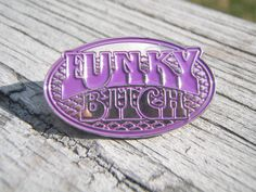 """Phish """"Funky Bitch"""" pin in purple - limited edition LE collectible lapel badge- trey, hippie, lsd, 420. $12.00, via Etsy."""