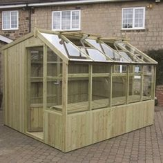 Greenhouse and shed combo