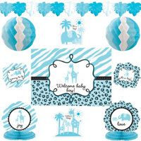 Blue Safari Baby Shower Party Supplies - Party City
