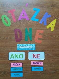Produkt - Otázka dne Teaching Tips, My Teacher, Holidays And Events, Classroom Management, Montessori, Education, Games, School, Projects