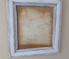 VINTAGE SHABBY CHIC Ornate Wood Frame by SouthamptonVintage