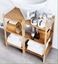 10 Ways to Squeeze a Little Extra Storage Out of a Small Bathroom frome here RÅGRUND Sink shelf/corner shelf IKEA Small Bathroom Storage, Diy Bathroom, Small Bathroom, Sink Shelf, Bathroom Decor, Bathroom Storage Organization, Bathrooms Remodel, Home Decor, Bathroom Storage