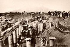 Pompeii excavation 1876 by ookami_dou, via Flickr