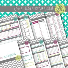 Home. More Organized.  Home Management Binder Printables by lifemoreorganized on Etsy
