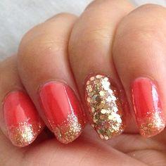Yay! Got my NYE party nails happening #nails #nailart #fashion #beauty @beautylish @thebeautyblog @hairandnailfashion - @sophiodling- #webstagram
