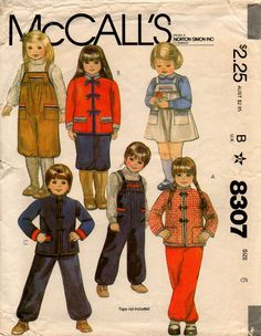 Uncut // 1982 // Child's JACKET ROMPER JUMPER Pattern // Size 6 // Vintage Sewing // Winter Wardrobe // McCall's 8307 by graymountaingoods on Etsy