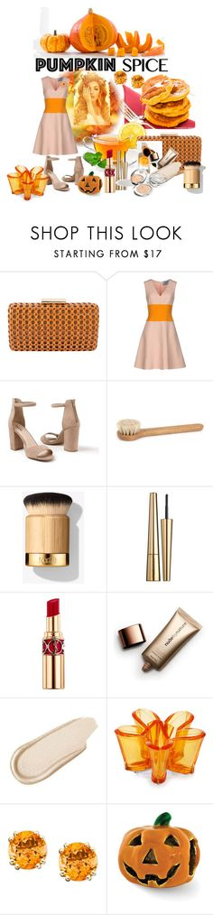 """""""Pumkin Spice"""" by magika890 ❤ liked on Polyvore featuring Inge Christopher, Prada, Venus, Victoria Beckham, Yves Saint Laurent, Nude by Nature, Charlotte Russe, Dsquared2 and NOVICA"""