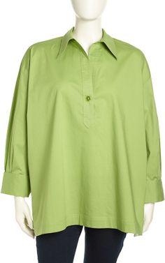 Go Silk One-Button Long-Sleeve Tunic, Women's on shopstyle.com