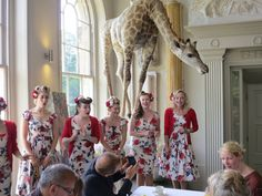 Tootsie Rollers with Tea and Cake. Aynho Fete. 12-June 2016. It was a 'Right Royal Do'! (Thanks Les Horley, Aynho for image)