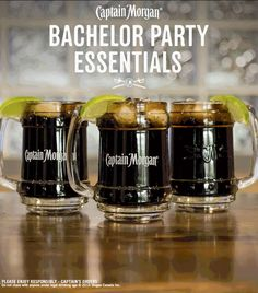 Captain and Cola. Goes together like bachelor parties and good times. Get more rum recipes at https://us.captainmorgan.com/rum-cocktails/?utm_source=pinterest&utm_medium=social&utm_term=bachelor&utm_content=bachelor_essentials&utm_campaign=recipe