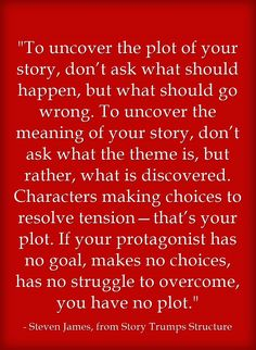 An approach to uncover a story's plot. A way of looking at... many things in life.