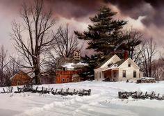 Inverno Pittura - Arte, piuttosto, Paiting, Inverno