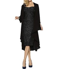 Ruiyuhong Women's Short Lace Mother of the Bride Dress with Jacket Formal Gowns LH158
