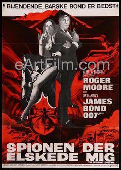 Spy Who Loved Me 1980 Rerelease 23.75x33.75 Movie Poster Denmark