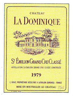 Chateau La Dominique 1979 Wine Label