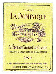 Chateau La Dominique 1979 Wine Label