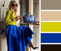 clothes i love Colour Combinations Fashion, Color Combinations For Clothes, Fashion Colours, Colorful Fashion, Color Combos, Fashion Mode, Look Fashion, Fashion Outfits, Fashion Design