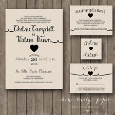 Printable Wedding Invitation Suite  the Rayna by HowLovelyPaper, $25.00