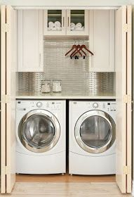 The Granite Gurus: FAQ Friday: Granite Countertop Over a Washer & Dryer in the Laundry?