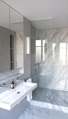 Kevin Velghe , Atelier kva  salle de bain en marbre de carrare