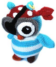 crochet pirate owl pattern - Google Search