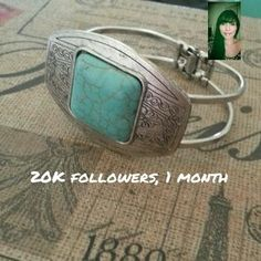 I just discovered this while shopping on Poshmark: Turquoise Statement Bracelet NWOT. Check it out!  Size: OS