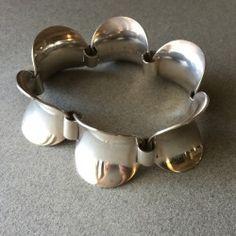 Georg Jensen Sterling Silver Bracelet No. 210 by Steffen Andersen, Handmade Sterling Silver - Gallery 925