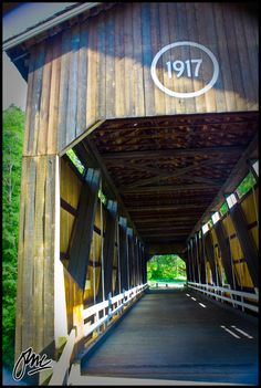 One of the few remaining Covered Bridges in America, the McKee Bridge was built in 1917. Applegate River, Southern Oregon