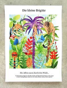 Julia Pfaller » Brigitte Rätsel Editorial Illustration, Portfolio, Illustrated Maps, Nursery Room Ideas, Drawing S