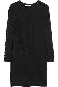 IRO Abbie embroidered crepe mini dress | NET-A-PORTER