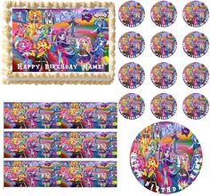 My Little Pony Equestria Girls RAINBOW ROCKS Party Edible Cake Topper Frosting Sheet Image-All Sizes by PartyEdibles on Etsy https://www.etsy.com/listing/221269269/my-little-pony-equestria-girls-rainbow