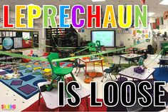The clever leprechaun is on the loose in my classroom and you have to see what he does! Is it fun? YES! Make this day memorable for your students. The leprechaun is loose!