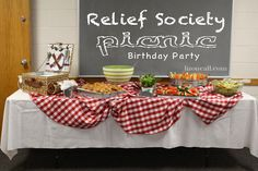 Relief Society Picnic for birthday celebration