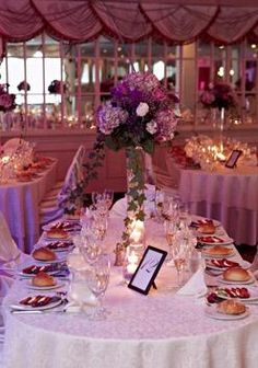 Table Setup For A Wedding At Royal Regency Hotel In Yonkers Westchester County