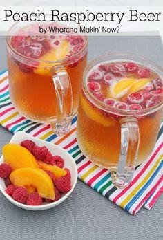 Peach Raspberry Beer.