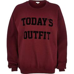 Red today's outfit print sweatshirt £25.00