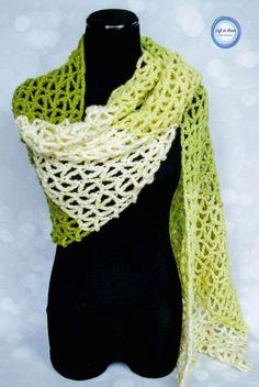 Greenery Wrap - Free Crochet Pattern using Caron Cakes yarn