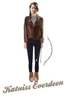 Katniss Everdeen by mjbol on Polyvore featuring polyvore мода style T By Alexander Wang Kenneth Cole River Island Anne Sisteron La Perla Bow & Arrow fashion clothing