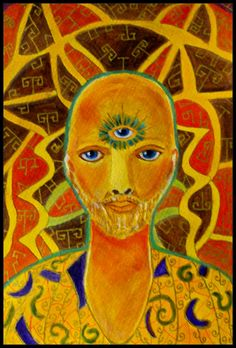 The third eye from the Chakra, painted in Acrylics.
