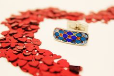 Cetus Cufflinks...Breathtaking Coloured Enamel with vibrant Swarovski crystals...Available in 3 beautiful colours... #cufflinks #luxury #wedding #groom #ushers #keepsake