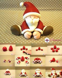 Fondant Santa tutorial - For all your Christmas cake decorations, please visit http://www.craftcompany.co.uk/occasions/christmas.html