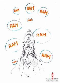 Sunday, September 13, 2015   Daily drawings of Hanuman / Hanuman TODAY / Connecting with Hanuman through art / Artwork by Petr Budil [Pritam] www.hanuman.today