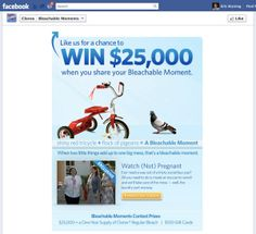 """Clorox """"Bleachable Moments"""" Facebook Contest by Eric Bryning, via Behance Behance, In This Moment, Marketing, Behavior"""