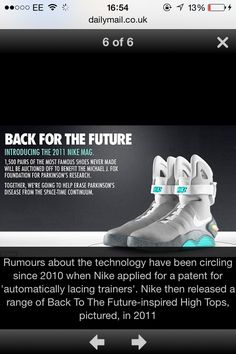 60b762b9b253 Limited Edition 2011 Nike Air Mag Sz 8 Back To The Future McFly Mags NEW IN